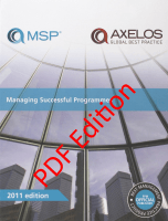 PDF Edition of Managing Successful Programmes (MSP®) 2011 Edition